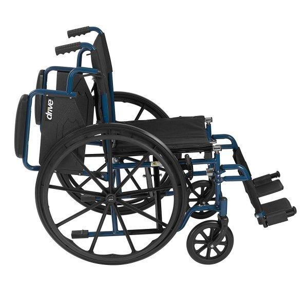 Drive Blue Streak Wheelchair with Flip Back Desk Arms
