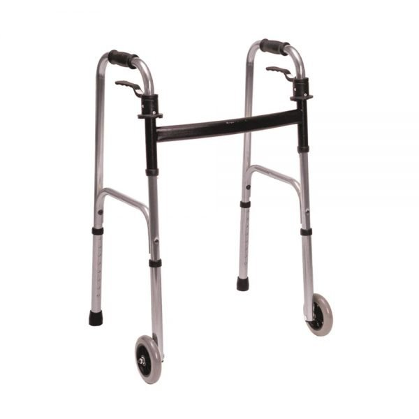 Trigger Release Walker Rental with 5-Inch Fixed Wheels